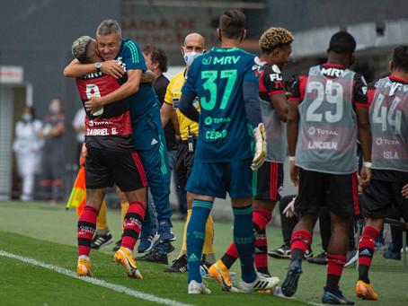 Em jogo marcado pelo uso do VAR, Flamengo bate Santos e sobe na tabela