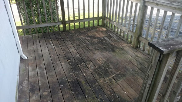 Savannah Deck Restoration and Cleaning Before Picture