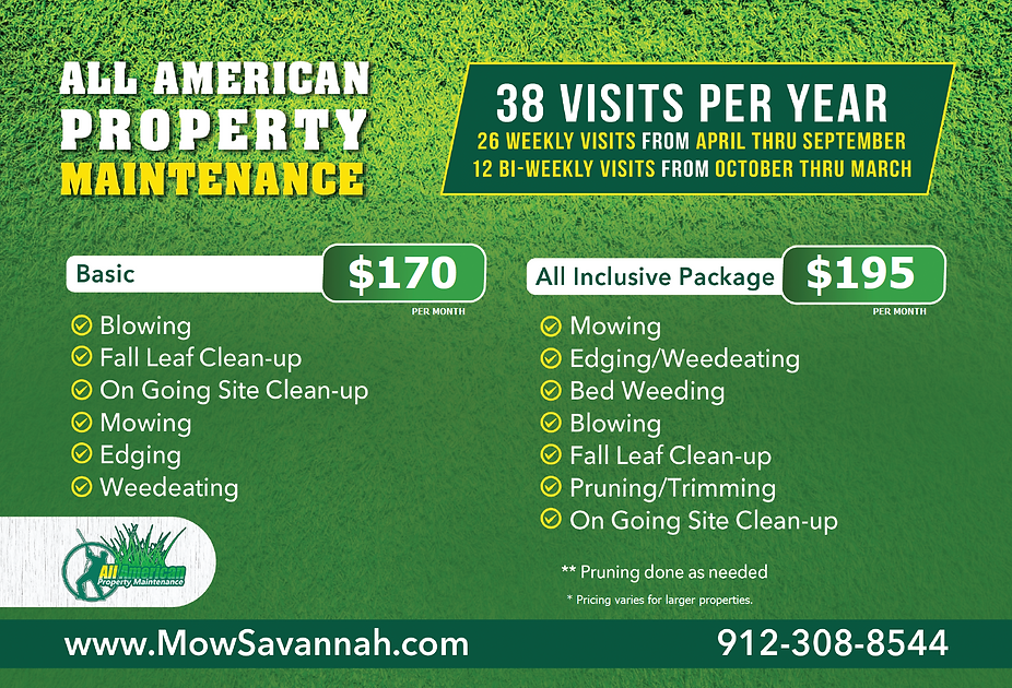 Landscape Maintenance Package for Savannah Homeowners