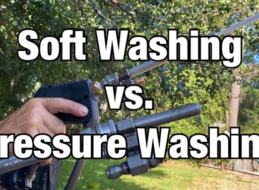 Explanation of Pressure Washing vs. Soft Washing