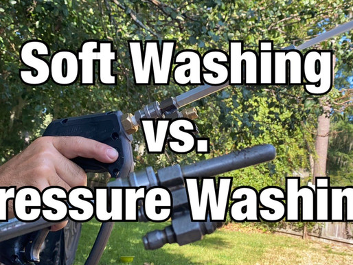 Explanation of Pressure Washing vs. Soft Washing