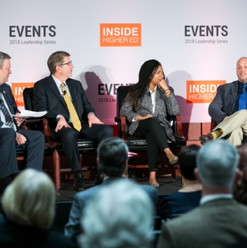 Speaking about diversity and educational access with colleagues from Harvard and Oxford in Washington DC.  Photo credit: Inside Higher Ed.