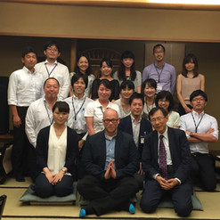 Celebrating with colleagues -  the culmination of a summer teaching in the Global Liberal Arts Program of Rikkyo University in Tokyo, Japan.
