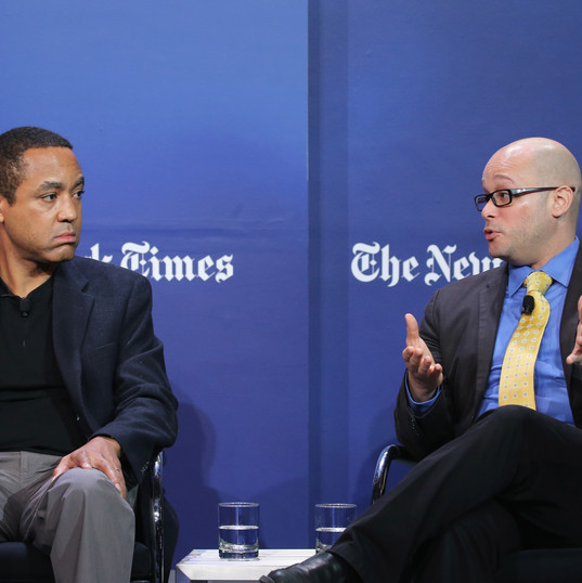 Debating Affirmative Action at The New York Times with Columbia University Associate Professor John McWhorter. Photo Credit: The New York Times.
