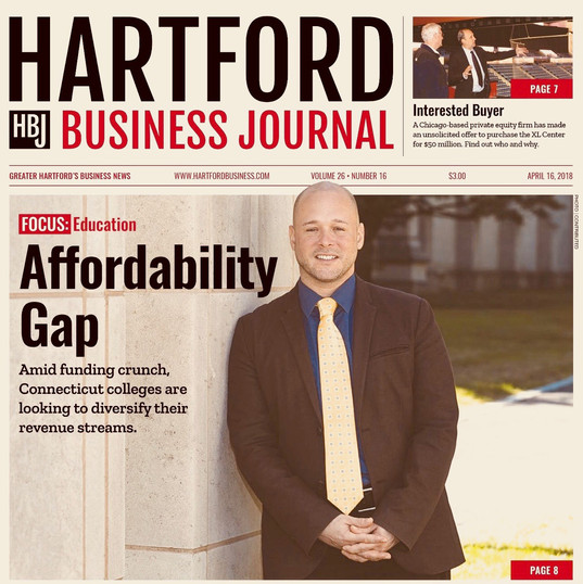 Cover story in the Hartford Business Journal regarding the affordability gap in higher education.