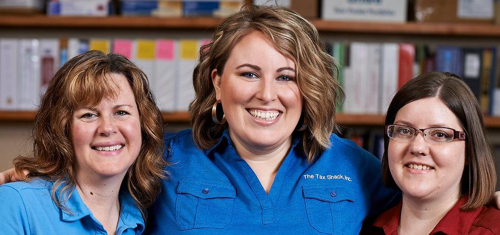 The Tax Shack Inc   Team Members   Brandy, Tara and Sara   Tax Preparation   Book keeping   Payroll   Gig Harbor   Port Orchard   Tacoma   Pierce County   Kitsap County
