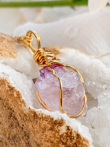 Amethyst Healing Crystal Necklace