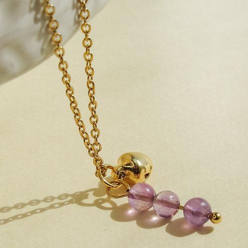 Amethyst Crystal Angel Caller Necklace