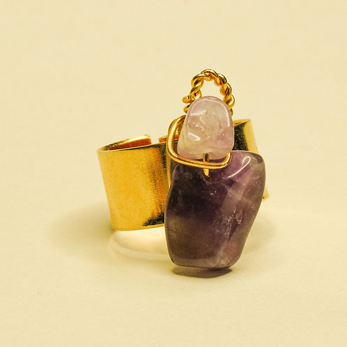 ERA - Amethyst Crystal Adjustable Ring