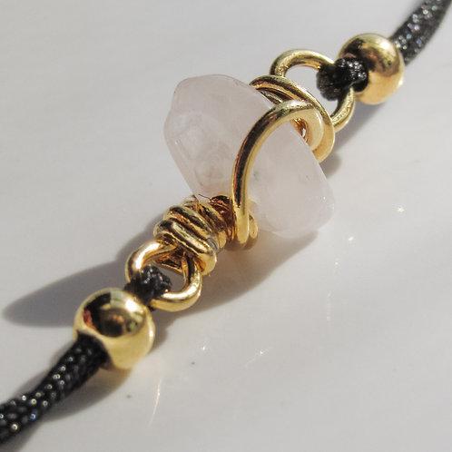 Rose Quartz Crystal Adjustable Bracelet