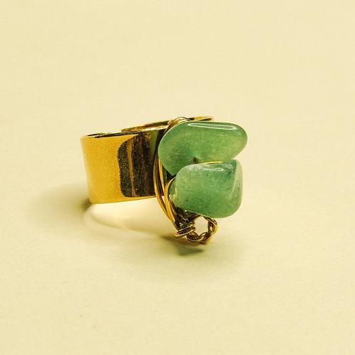 ERA - Aventurine Crystal Adjustable Ring