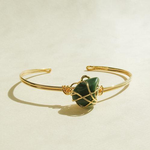 Jade Crystal Wired Adjustable Bracelet