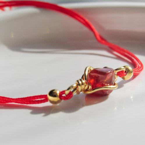 Carnelian Crystal Red Bracelet