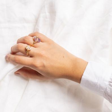 Healing Crystals Rings