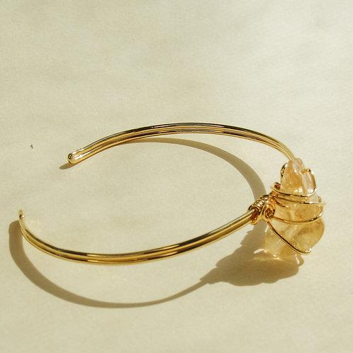 Citrine Crystal Wired Adjustable Bracelet