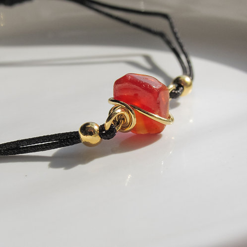 Carnelian Crystal Black Bracelet