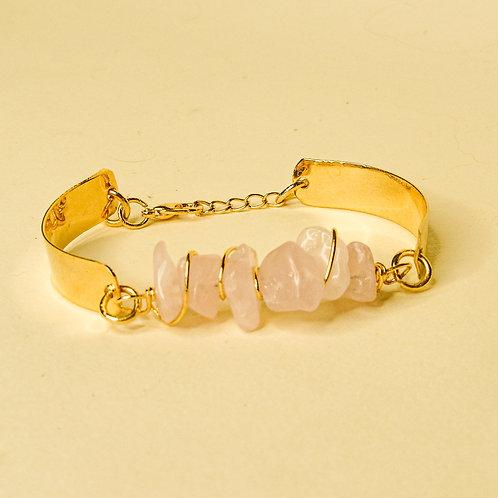 ERA - Rose Quartz Crystal Adjustable Bracelet