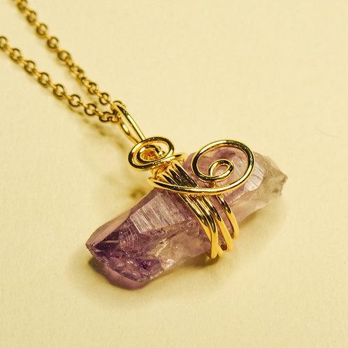 Amethyst Crystal Necklace