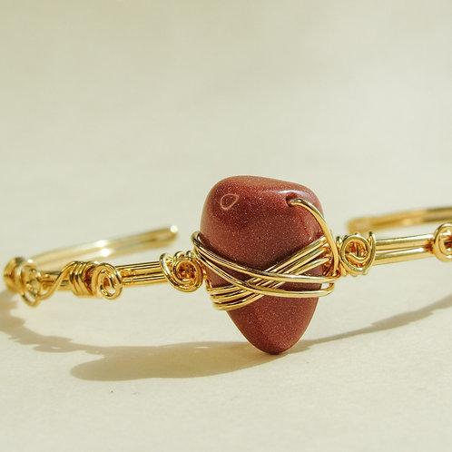 Goldstone Crystal Wired Adjustable Bracelet
