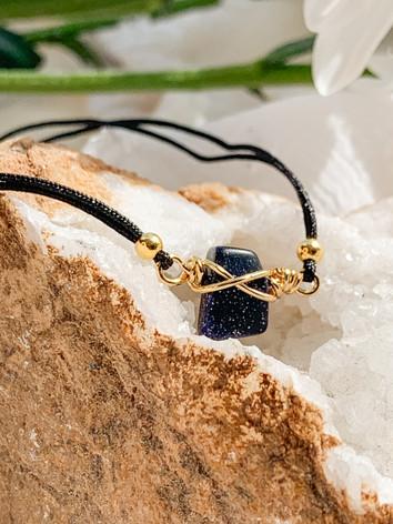 Healing Crystal Blue Goldstone