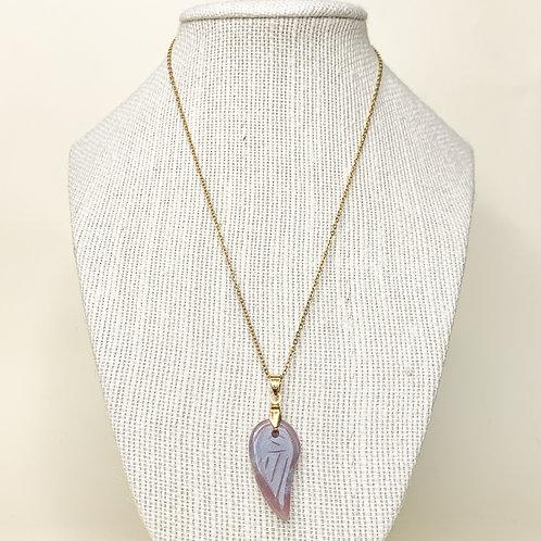 Amethyst Angel Wing Crystal Necklace