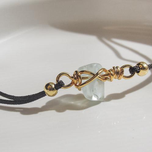 Aquamarine Crystal Adjustable Bracelet