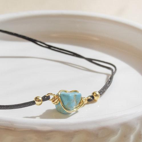 Turquoise Crystal Adjustable Bracelet
