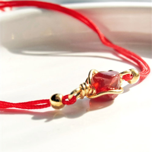 Agate Crystal Red Bracelet