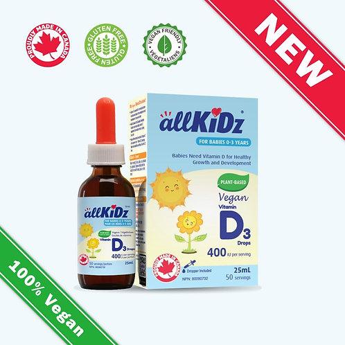 Végétalienne gouttes de vitamine D3 - 0-3 ANS