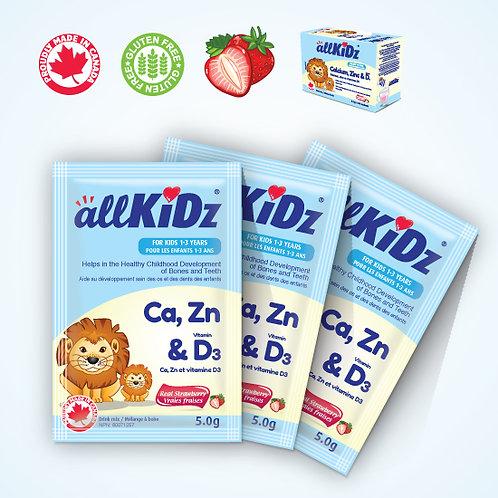 Calcium, zinc- vitamine D3 (Mélange à boire) 1-3 ANS