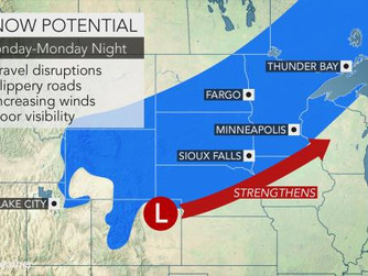 Potent winter system to move through the Northern Plains