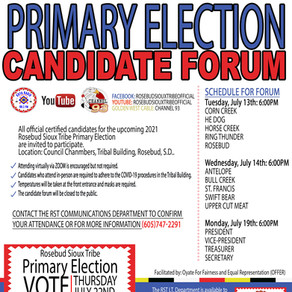 Primary Election Candidate Forum