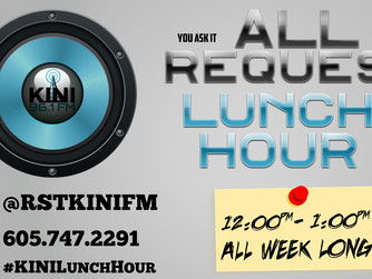 """KINI-FM's """"All Request Lunch Hour"""" - with DJ TK"""