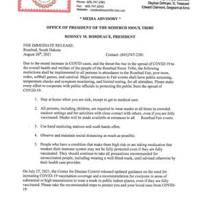 Rosebud Fair COVID Restrictions