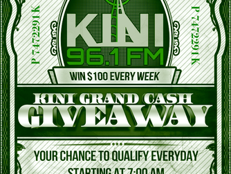 KINI's Keyword-to-Cash Giveaway! Qualify to Win Starting Every Day at 7:15am! Win $100 Every Wee
