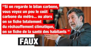 Non, le bilan carbone d'un métro n'est pas négatif !
