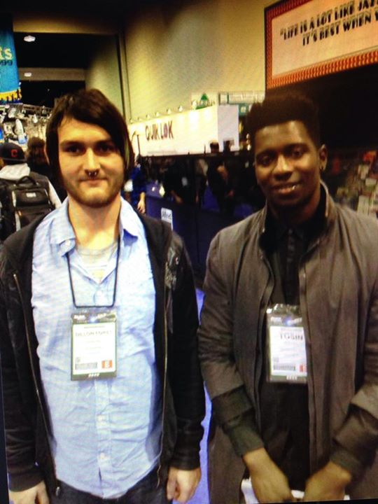 Throwback of Tosin Abasi and I at Namm 2013