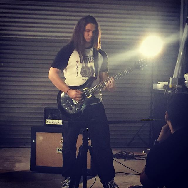 Our Guitarist Zack #inertiatheband #guitar