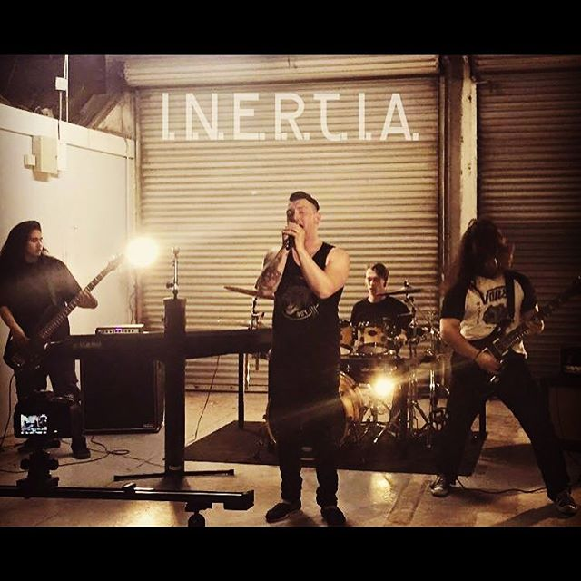 We are Inertia . #inertia #photography #4pieceband #piano #guitar #vocals #bass #drums #rock #metal