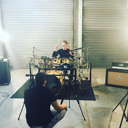 Our drummer in our first music video #GuiltyCrown #Ourfirstmusicvideo #inertia  #inertiatheband #raw