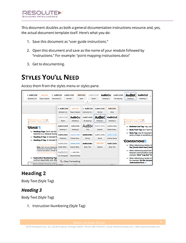 Set up Document for help content