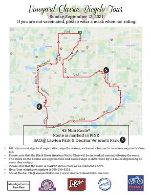 Vineyard Bike Map 43 Miles - 2021.png