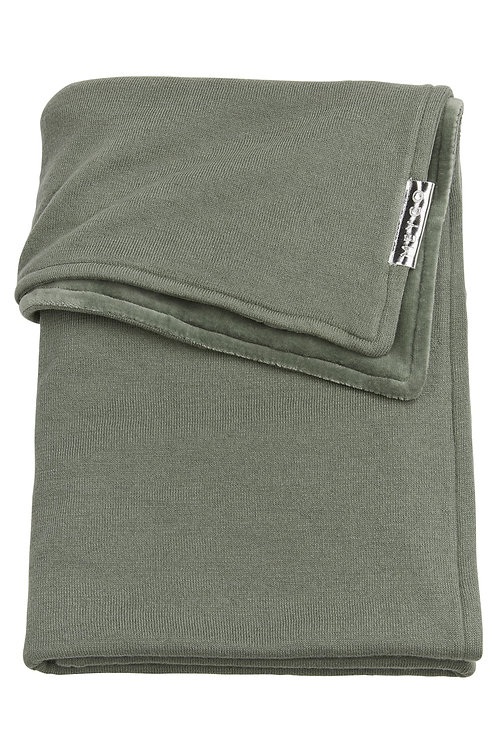 Couverture 100x150 cm - Knit basic - Vert forêt MEYCO
