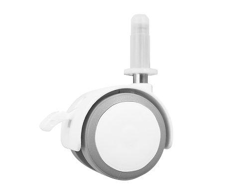 Set de 4 roulettes 40 mm caoutchouc Blanc