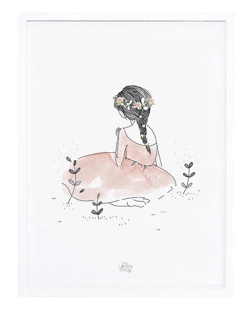 Affiche encadrée romantique fillette - Lilipinso