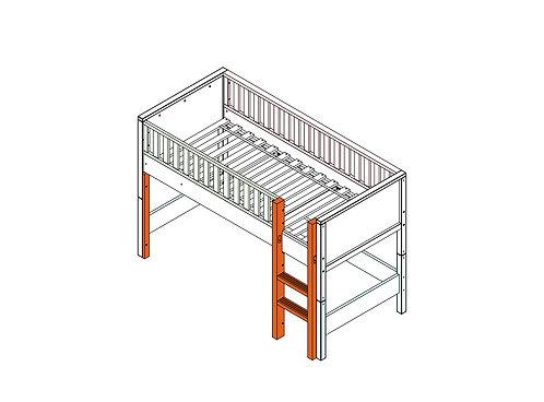 Échelle droite pour lit mezzanine mi-hauteur Nordic Blanc BOPITA