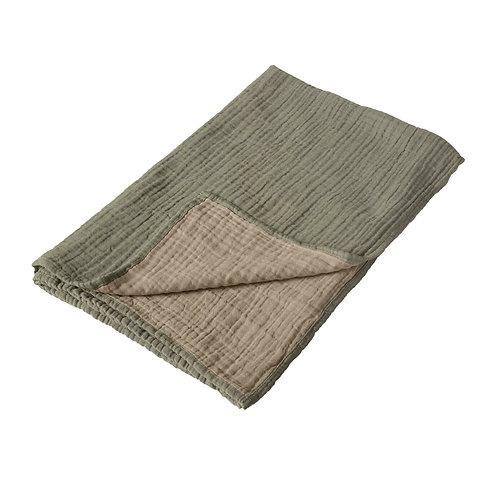 Natural - Serviette/couverture XL - 90x110cm - khaki/beige QUAX