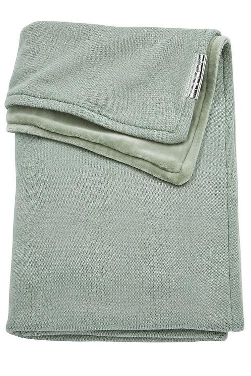 Couverture 100x150 cm - Knit basic - Vert stone MEYCO