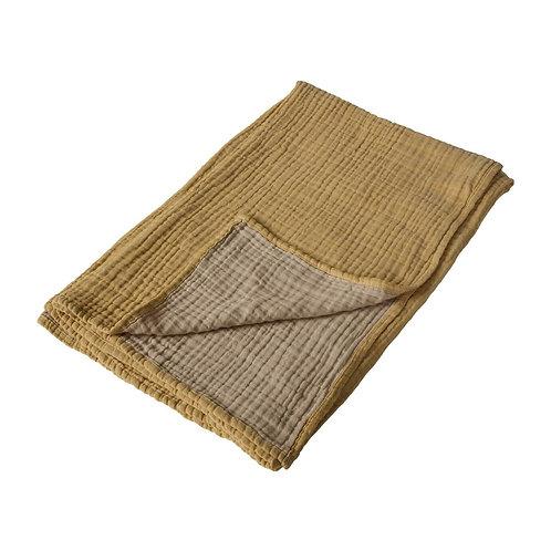 Natural - Serviette/couverture XL - 90x110cm - saffran/beige QUAX