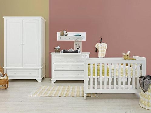 Chambre bébé 3 pièces CHARLOTTE Blanc (Lit 60x120) BOPITA